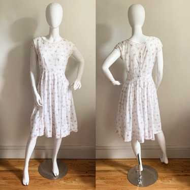 Vintage Cotton Voile Ditsy Floral Dress