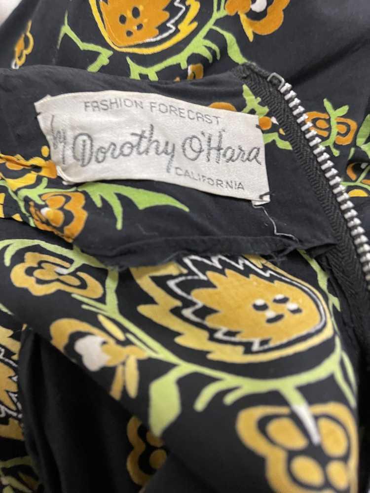 Dorothy O'Hara 40s Rayon Print Dress - image 7