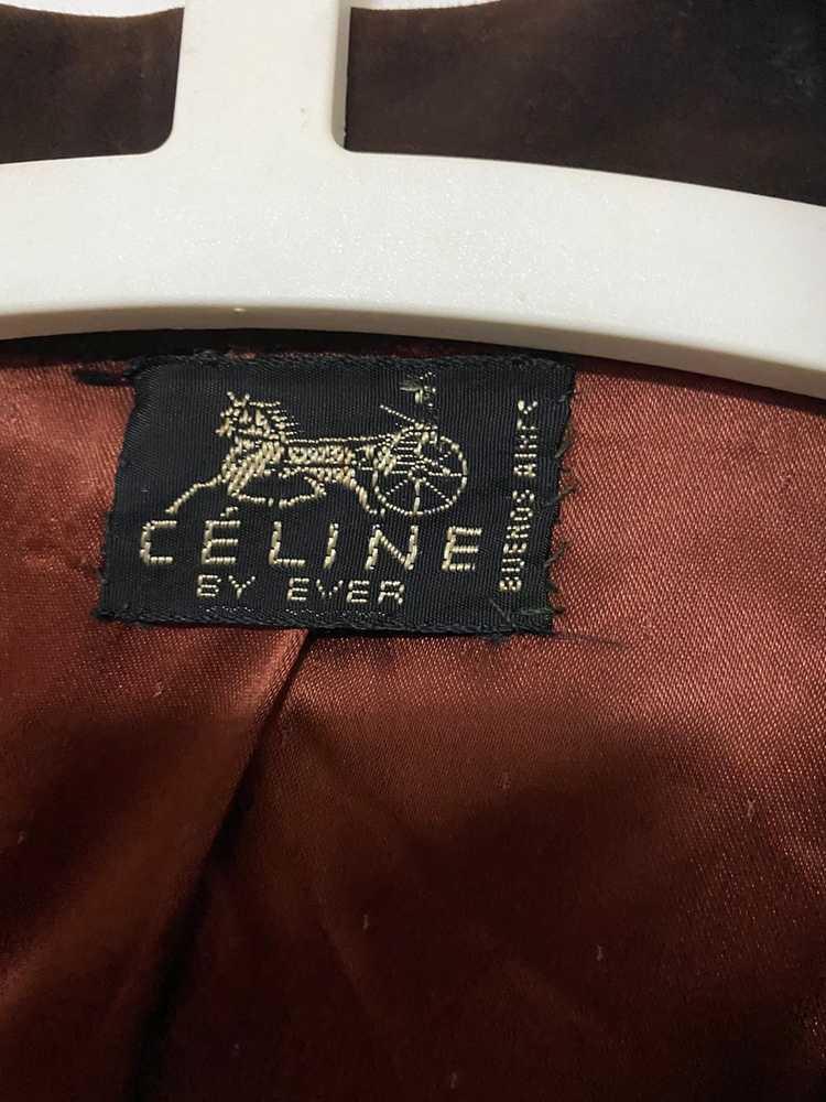 Celine × Vintage VINTAGE Celine Suede Leather Bla… - image 3