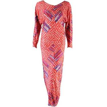 Missoni Gown 1980's Printed Cotton Jersey Vintage