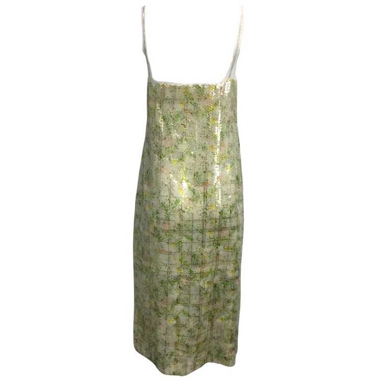 BY. Bonnie Young Green Sequined Sleeveless Formal… - image 2