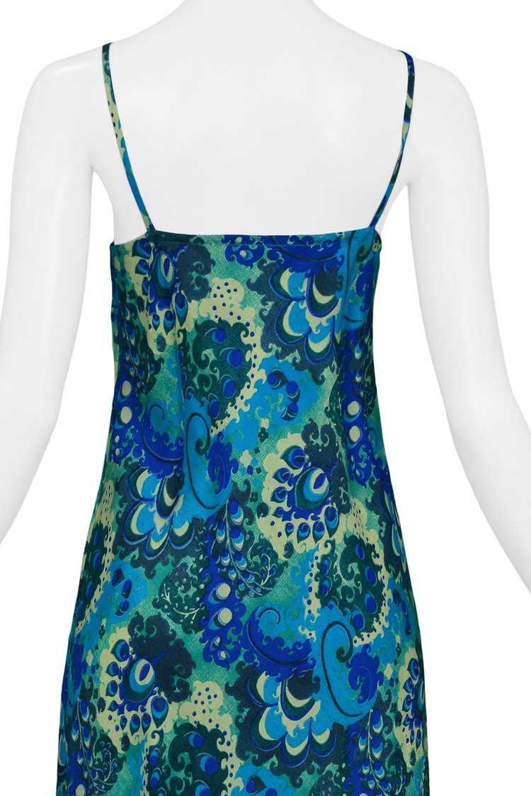 DRIES BLUE & GREEN FLORAL SLIP DRESS 1997 - image 4