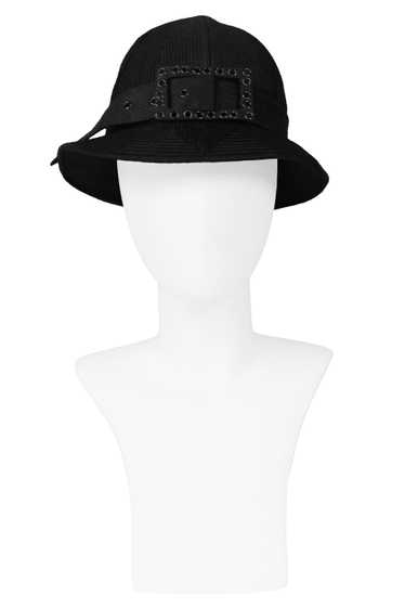 GALANOS FANCY BLACK BUCKLE HAT