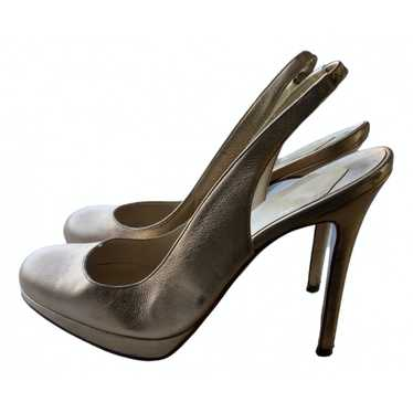 Christian Louboutin Gold Leather Heels for Women 3