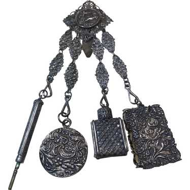 Egyptian revival Silver chatelaine - image 1