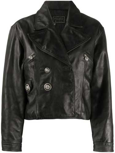 Versace Pre-Owned 1990s Versus leather jacket - Bl