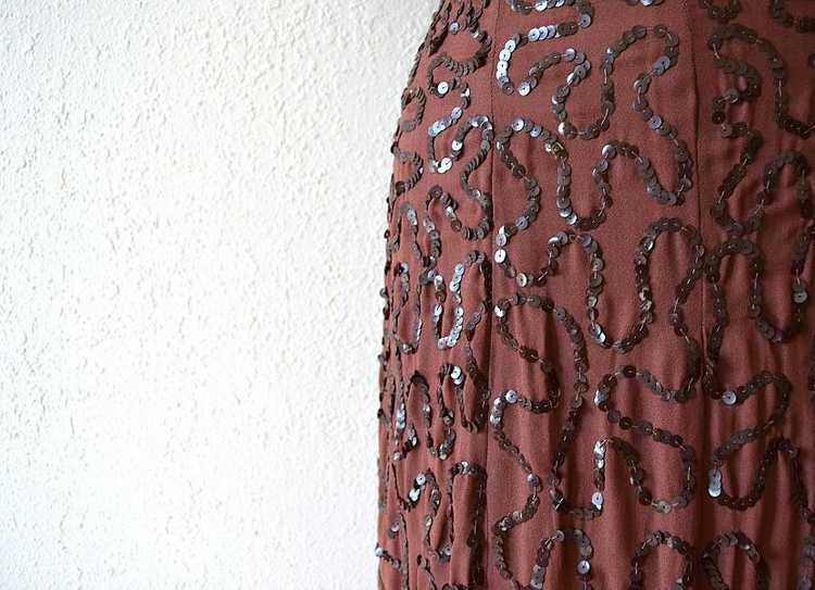 1940s Ceil Chapman dress . vintage sequin dress - image 5