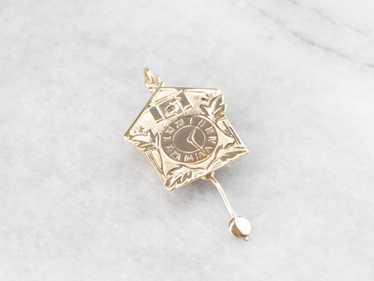 Gold Bavarian Cuckoo Clock Charm