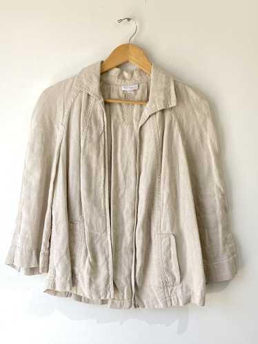 Vintage Charter Club Oatmeal Linen Jacket