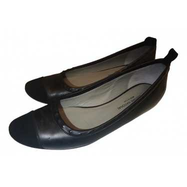 Costume National Black Leather Ballet flats for Wo