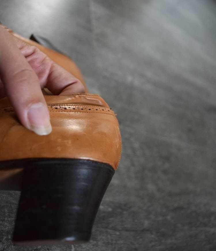 Edwardian shoes . antique leather shoes - image 6