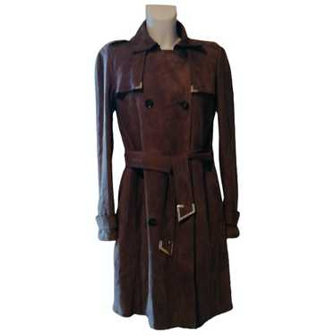 Gucci Ecru Leather Trench coat for Women 40 FR