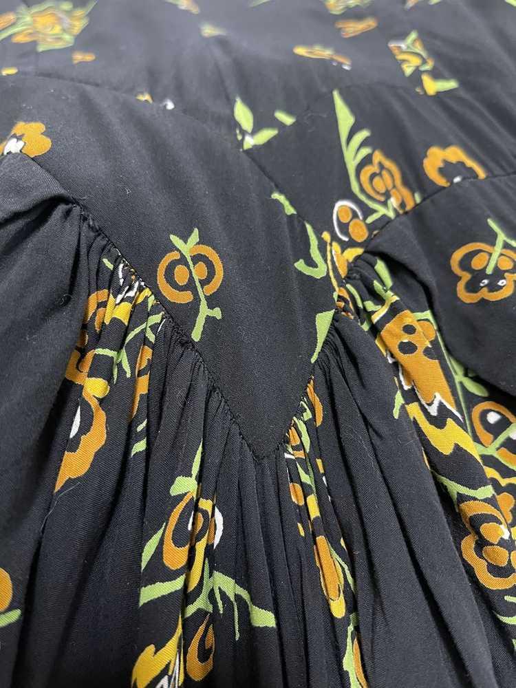 Dorothy O'Hara 40s Rayon Print Dress - image 5