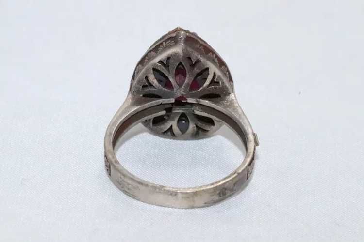 Sterling Silver Ruby Ring - image 3
