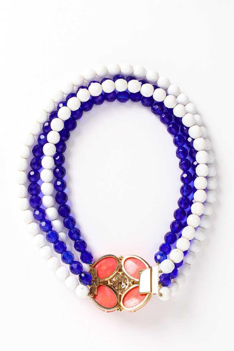 ARNOLD SCAASI Multi-Strand Cabochon Bead Collar - image 9