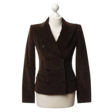Dolce & Gabbana Dark brown corduroy Blazer