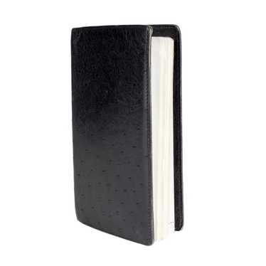 Black Ostrich Notebook