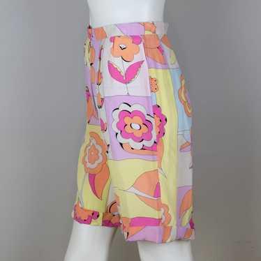 Vintage Bessi Printed Silk Summer Shorts 1980s
