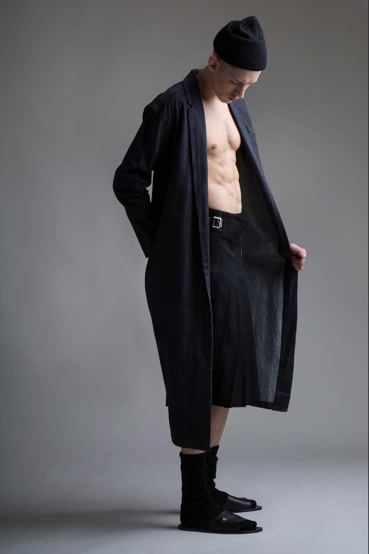 Vintage Norma Kamali Denim Coat - image 4