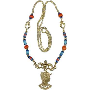 """Signed """"ART"""" Egyptian Revival Necklace - image 1"""