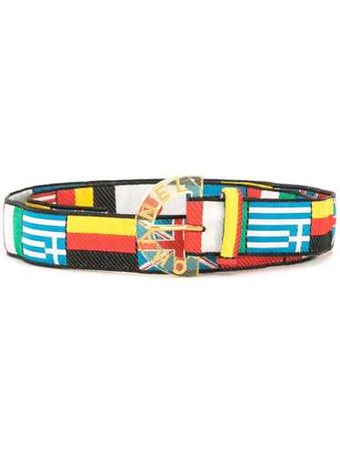 Chanel Pre-Owned 2005 flag motifs belt - Black