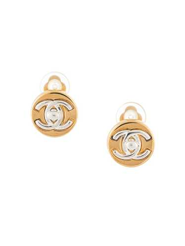Chanel Pre-Owned 1997 CC turn-lock earrings - GOLD