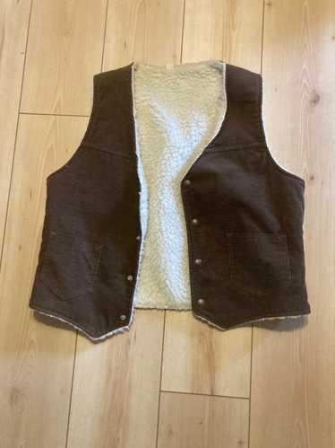Vintage 70s brown corduroy vest