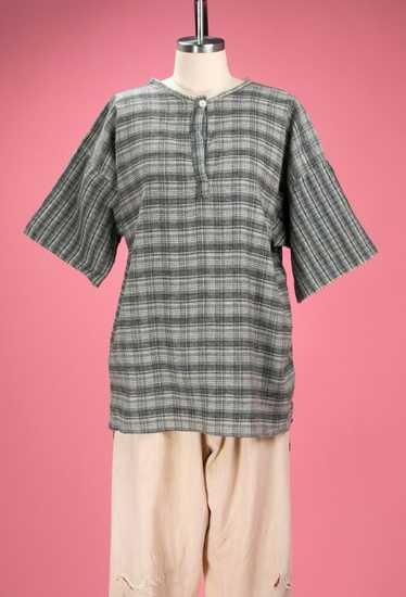Antique / Early Vintage 1910's - 20's Grey Flanne… - image 1