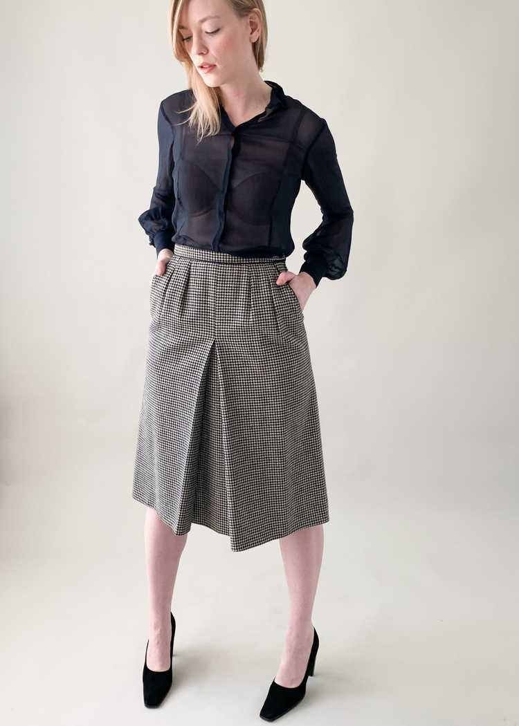 Vintage 1970s Yves Saint Laurent Houndstooth Skirt - image 5