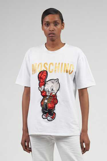 Vintage Moschino Couture White Looney Tunes Porky