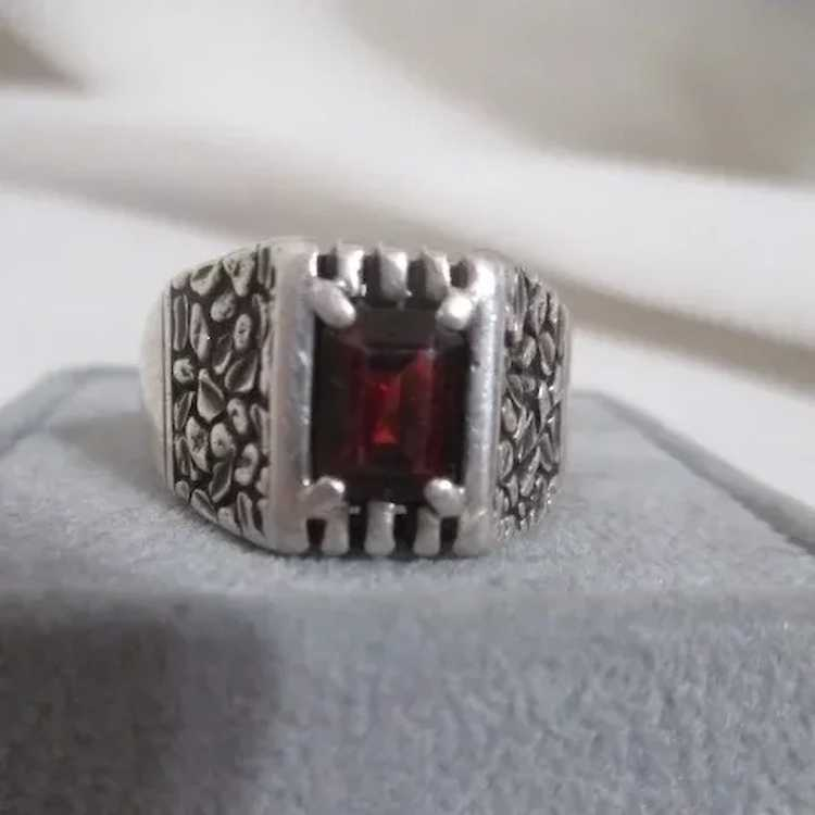 Sterling Silver Ring with Ruby - image 7