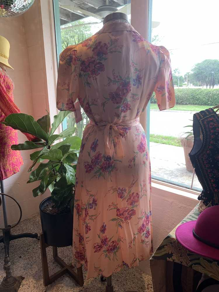 1940's Floral Pink Robe - image 5