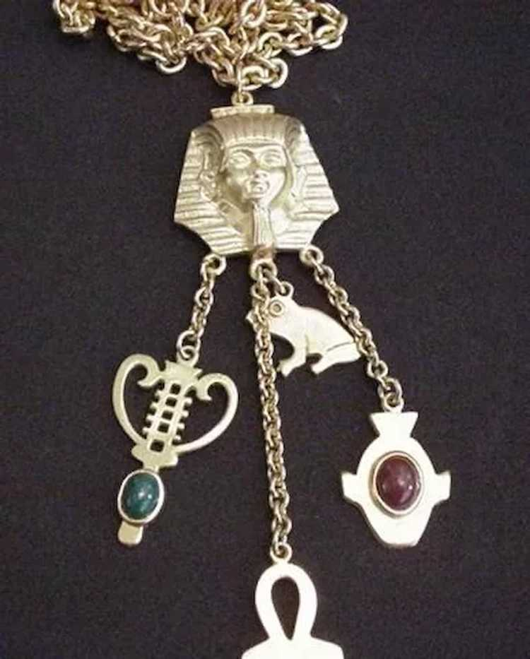 Egyptian Revival Necklace - image 2