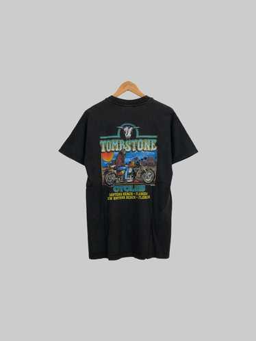 Vintage Y2K 2000s Daytona Beach Bike Week Eagle Graphic Long Sleeve Shirt