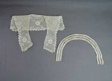 Destash Assortment Trims Cuffs 9 Handmade Vintage Collars Collection of Antique Lace Collars Upcycle Repurpose