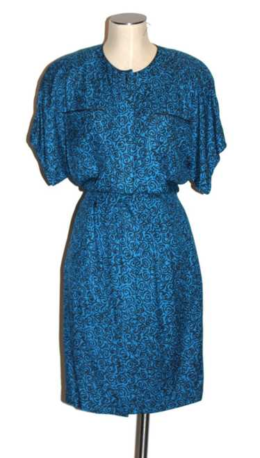 1980's silk dress