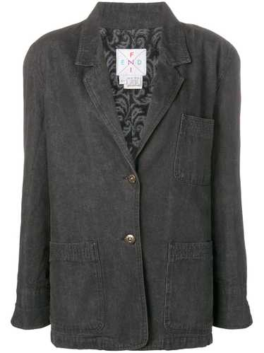 Fendi Pre-Owned denim blazer - Grey