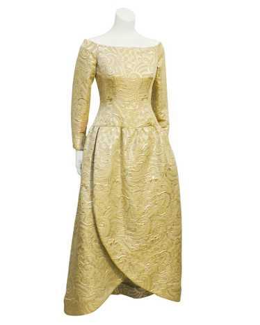 Scaasi Gold Brocade Gown