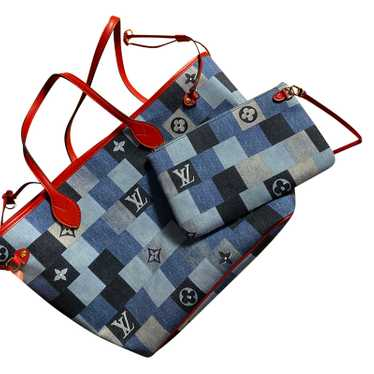 Louis Vuitton Neverfull MM32 Jeans fabric