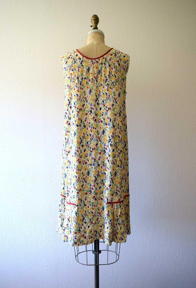 1920s rainbow print dress . vintage 20s dress - image 4
