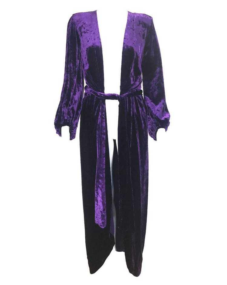 Yves Saint Laurent 1970s Velvet Gown - image 5