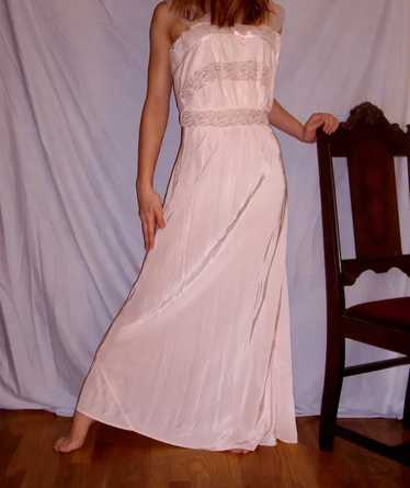 Vintage 1940 Rayon Nightgown Charmode Pink size 36
