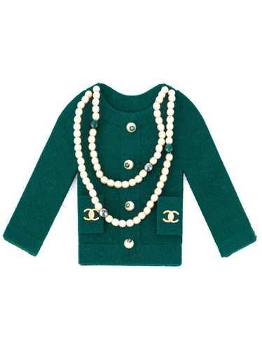 Chanel Pre-Owned 1990's embellished felt jacket b… - image 1