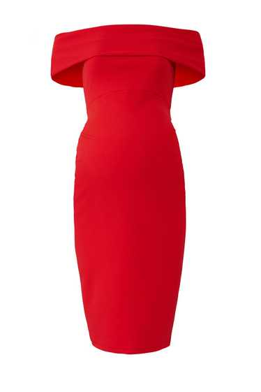 soon maternity Red Claire Maternity Dress - image 1