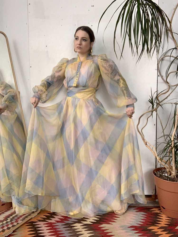 RARE 1940s Ceil Chapman Gown - image 6