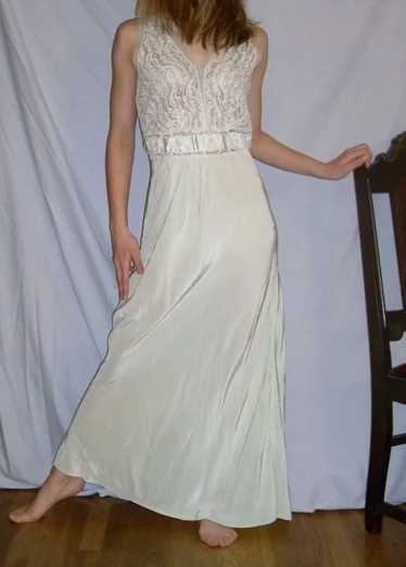 Vintage 1940  Rayon Nightgown Charmode Mint Green