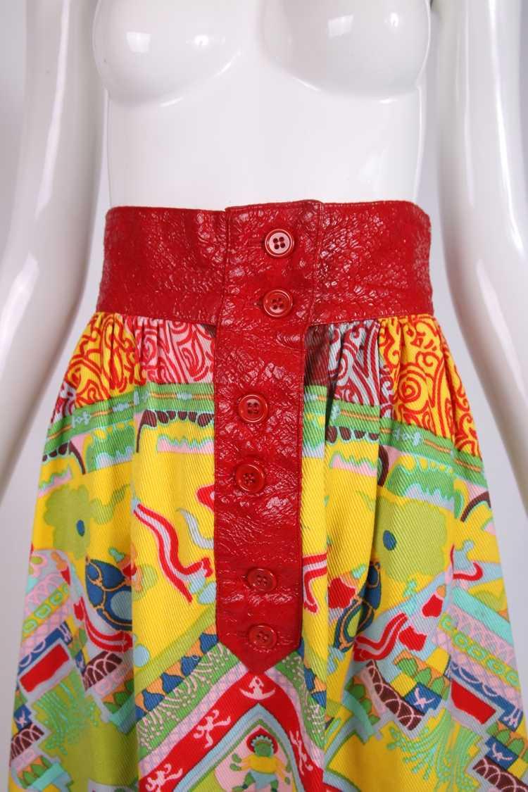1970's Lanvin 'Buddha' Theme Maxi Skirt - image 3