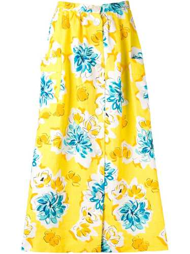 Céline Pre-Owned 1970's floral print skirt - Yello