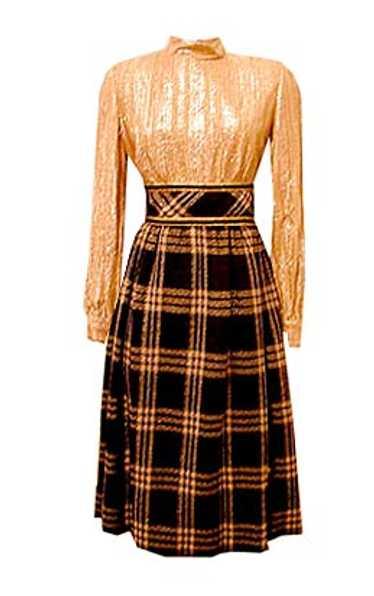 Mollie Parnis tweed dress