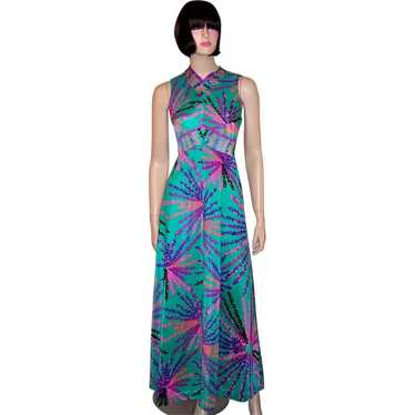 1970's Liberty House of Hawaii Floor Length Gown